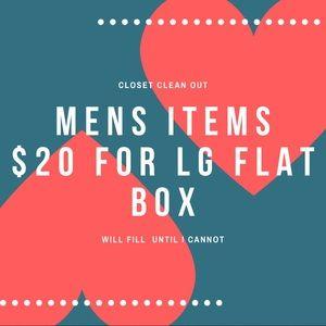 $20 for LG flat box variety Men's item